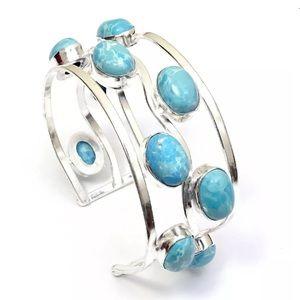 Jewelry - 925 sterling Caribbean Larimar Cuff Bracelet